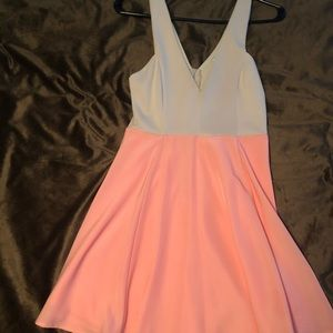 Cefian Tan and Coral cocktail dress size small